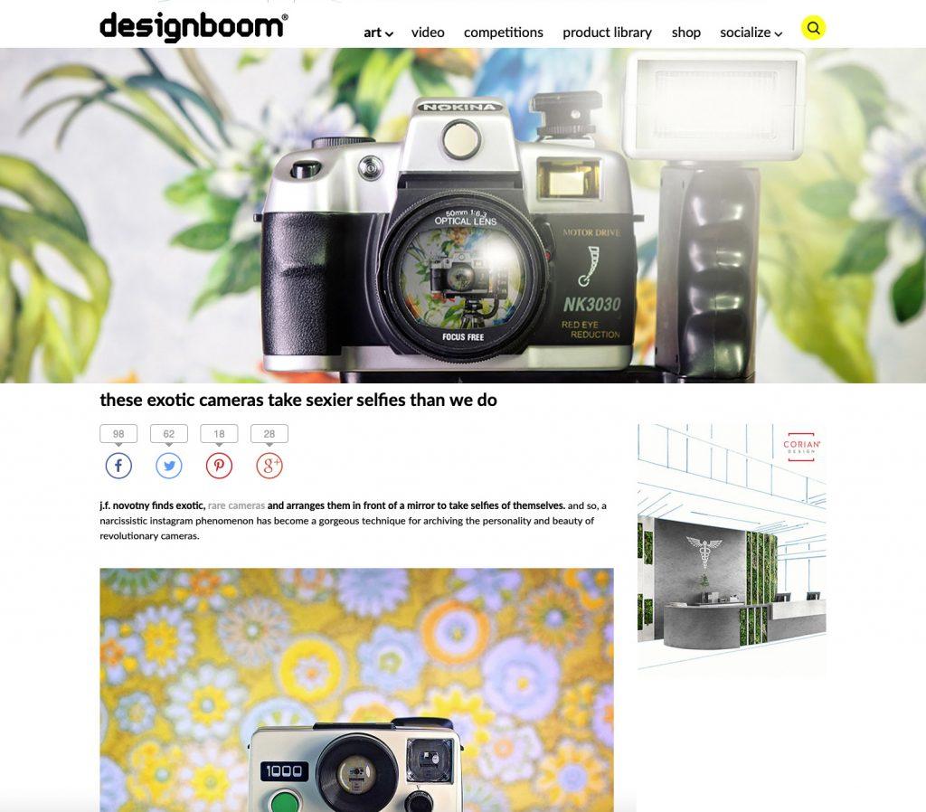 CameraSelfies feature in designboom