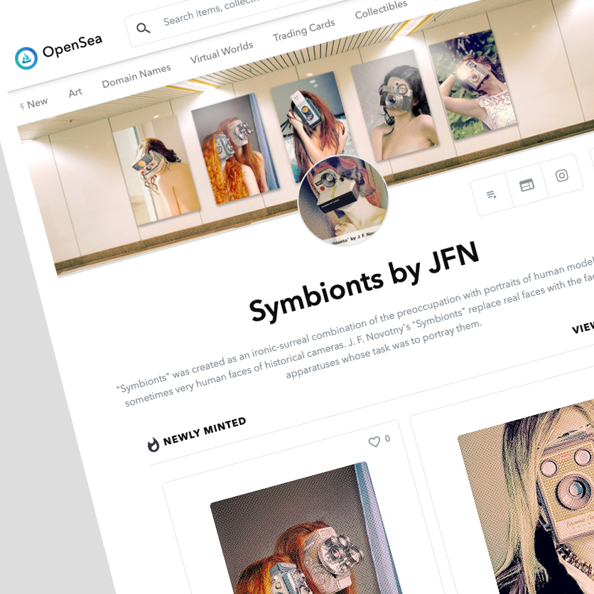 Symbionts by JFN on OpenSea now